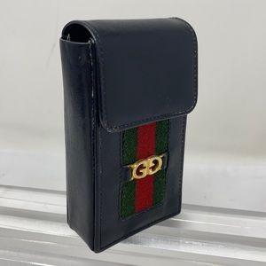 Vintage Gucci Small Black Rectangular Snap Case